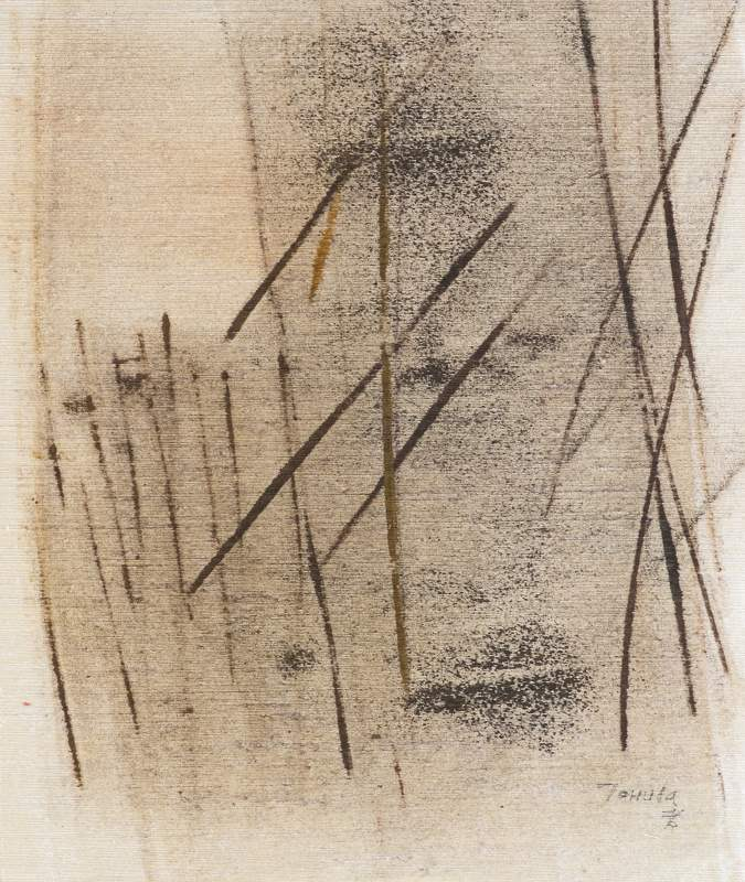 001 sítotisk na plátně 1976 447x375 v rámu 800 €
