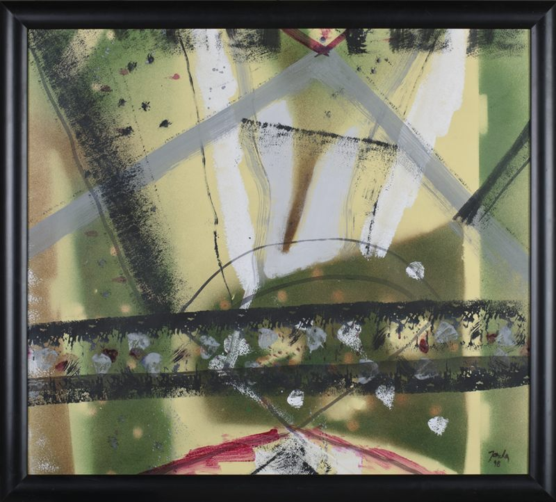 002 k.t. kvaš na papíru 1998 74x84 v rámu2900 €