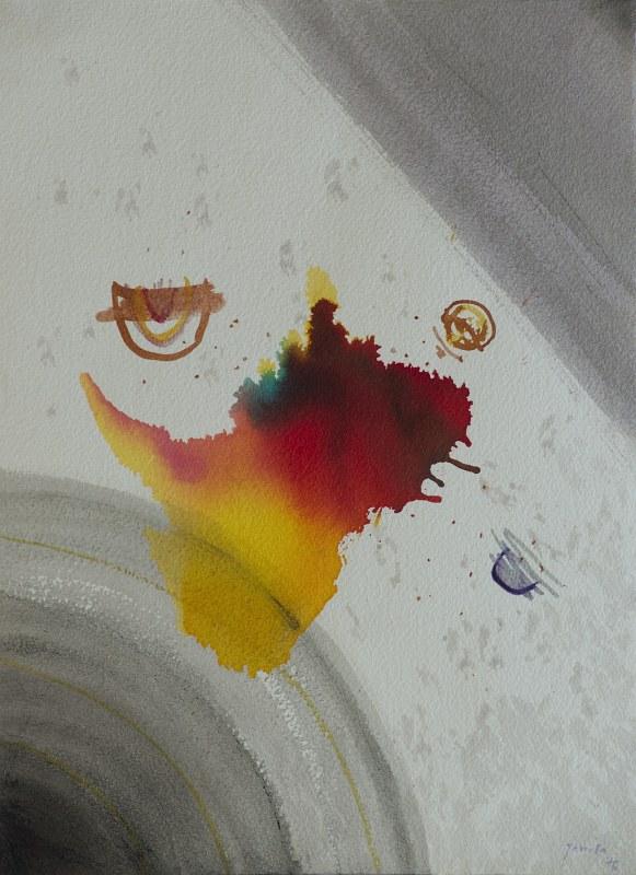010 k.t. akvareltempera na ruč.papíru 1976 38x28 v rámu 450 €