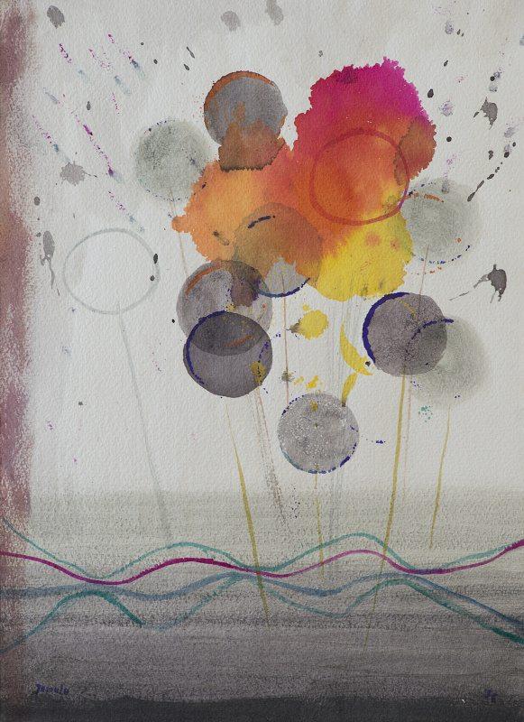 011 k.t. akvareltempera na ruč.papíru 1976 38x275 v rámu 450 €