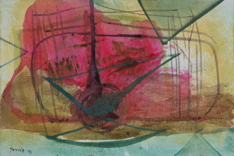 019 k.t. akvarel 1971 155x225 v rámu 250 €