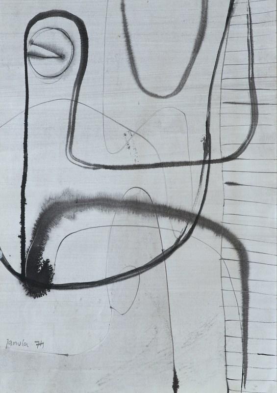 022 k.t. akvarel 1974 46x324 v rámu 500 €
