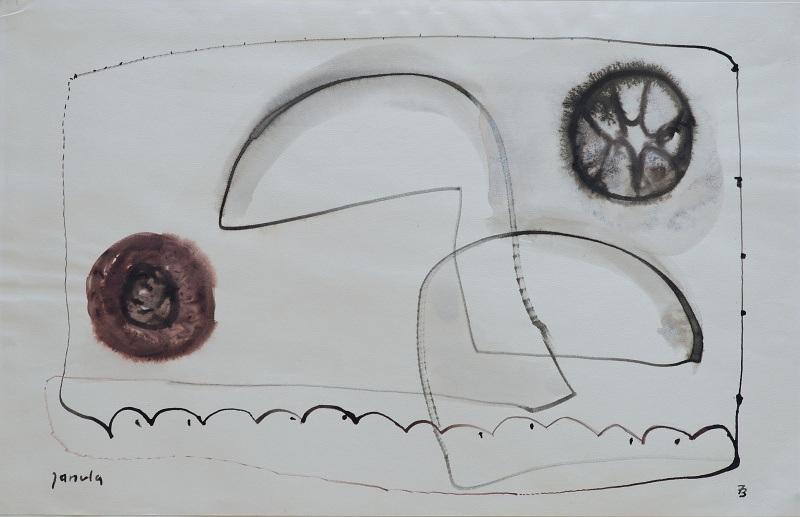 023 k.t. akvarel 1973 28x436 v rámu 500 €