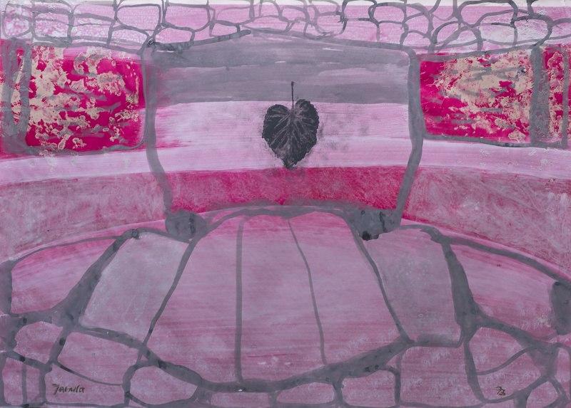 052 k.t akvarel a ředěná tempera 1973 458x636 v rámu 900 €