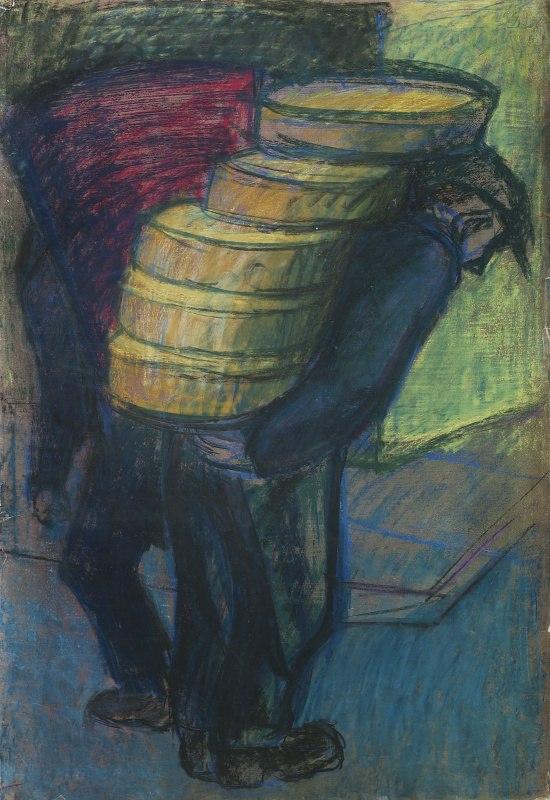 084 k.t. tempera a pastel na papíru nedatováno 101x705 4000 €