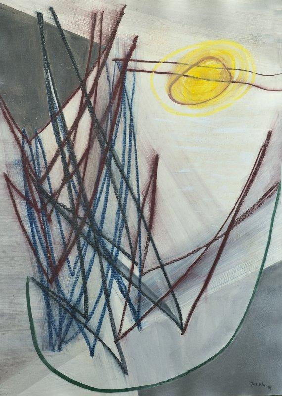 128 k.t. pastel akvarel 1979 104x745 4000 €